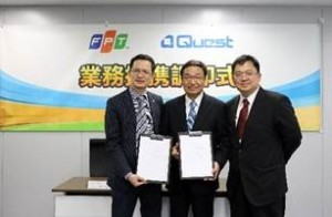 FSOFT and Quest Ltd. Co. representatives during signing of agreement ceremony