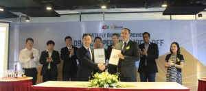 FSOFT and AWS representatives during signing of agreement ceremony